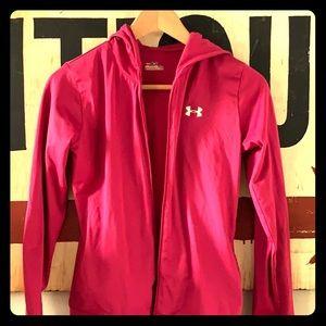 Under Armour pink girls hoodie